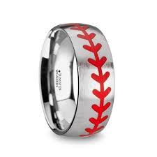 baseball wedding band men s rings rings by material titanium page 1 king