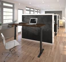 Sit Stand Adjustable Desk by Electric Height Adjustable Table By Bestar Youtube