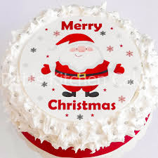 Edible Christmas Baking Decorations by Christmas Cake Topper Santa Cake Decoration Edible Icing Round