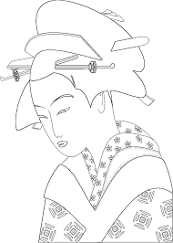 japanese traditions and art coloring pages page 3