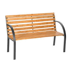 Eucalyptus Bench - wooden garden bench eucalyptus wood seat with metal legs furniture