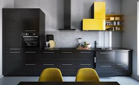 Kitchen Cabinet Mount by Design Single Yellow Wall Cabinet With Shelves And Black Stained