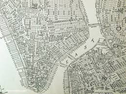 Old Map New York City by Vintage New York City Map New York Map