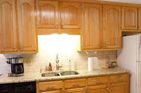 Oak Cabinet Kitchens Pictures Orange Oak Cabinet Makeover The Lettered Cottage Painted