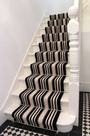 striped carpet black u0026 white with stair rods house ideas