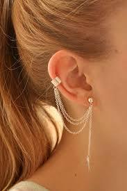 stylish earrings leaf shaped chain link stylish earrings fashion earrings trendy