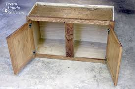 how to make storage cabinets how to make a shoe storage bench out of a habitat restore