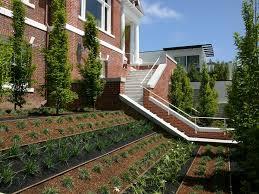 Backyard Accessories Small Sloping Backyard Landscape Modern With Bark Mulch Plastic