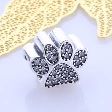 pandora bracelet with charms images 925 sterling silver paw print charm to fit pandora bracelet 100 jpg