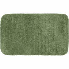 Green Bathroom Rugs Traditional Plush Washable Bath Rug Walmart