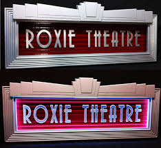 Home Theatre Decorations by Custom Built Lighted Art Deco Home Theater Marquee Created By Old