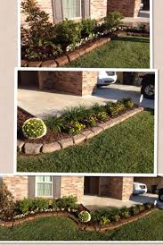outstanding stone landscaping ideas with best 25 front flower beds ideas on pinterest rock bed flower