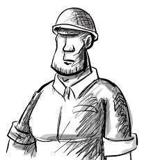 american soldier cartoon sketch illustrations pinterest