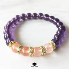 rose bead bracelet images 8 mm round bead bracelet amethyst and rose quartz chakvana png