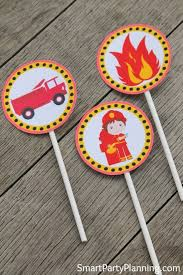 firefighter cupcake toppers the best fireman birthday party printable s