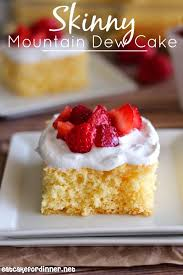 eat cake for dinner skinny mountain dew cake with whipped topping