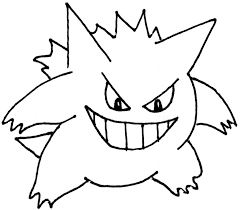 coloriage pokemon gengar coloriage et imprimerie pinterest