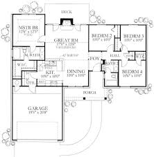 new ranch style homes ranch style house plan 4 beds 2 baths 1296 sq ft plan 80 102