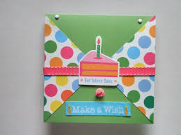 make a wish birthday card with polka dot print clairemdesigns on