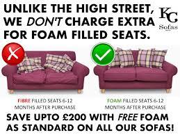 Fibre Filled Sofa Cushions Fibre Seats Vs Foam Seats U2013 Kc Sofas
