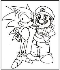 sonic hostility coloring picture kids sonic