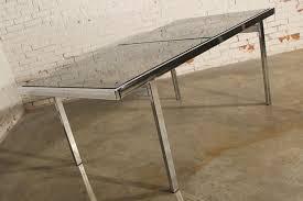 milo baughman dining table sold vintage milo baughman expandable dining table chrome and