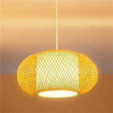 decorative light bulb covers led ceiling light pendant light bamboo woven cover hand made