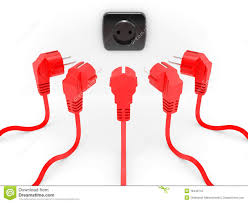 red electric plug stock illustration image of exit communication