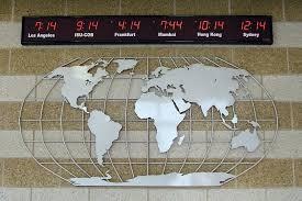 Aluminum Metal Map Wall Mural Sculpture Within World