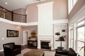 Living Room Rug Placement  Two Story Family Room Fireplace Two - Two story family room