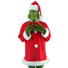 grinch costume how the grinch stole christmas the grinch deluxe costume