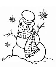 snowman coloring pages free print coloringstar