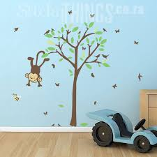 Monkey Nursery Wall Decals Monkey Baby Room Decor Sticky Things Wall Stickers South Africa