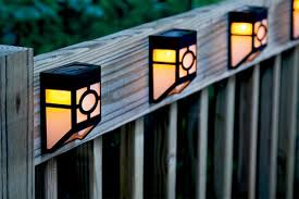 Outdoor Solar Lights For Fence Solar Powered Outdoor Lighting Fixtures Fence Lighting Solar