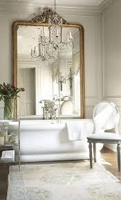white bathroom mirror at home and interior design ideas