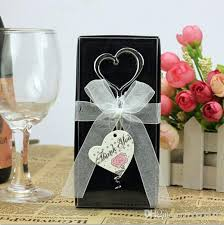wine bottle favors wedding favors and gifts chrome alloy heart shaped wine bottle