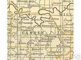 map of oregon mo camden county missouri genealogy history maps with creek