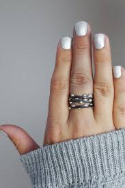 rings set images Black stacking midi ring set of two megan auman jpg