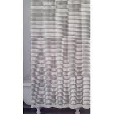 White Cotton Duck Shower Curtain Modern 100 Cotton Shower Curtains Allmodern