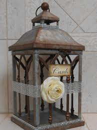 wedding gift card holder wedding lantern card holder card box wedding by thelacemoon