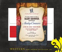 western baby shower nealon design western cowboy baby shower invitation