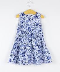 2017 summer fashion natural cotton dress girls kids clothes