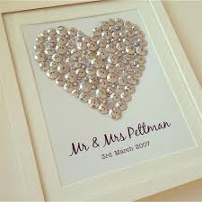 wedding gift personalised silver button heart personalised gift for a wedding wedding