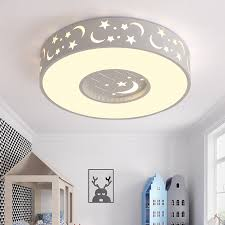 Led Bedroom White Round Ceiling - star led bedroom children ceiling lamp room creative remote