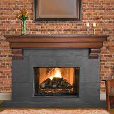 Fireplace Surround Bookshelves Decorating Interesting Fireplace Mantels Direct For Your Interior