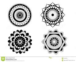 set of four beautiful vector mandalas decoration ornaments with