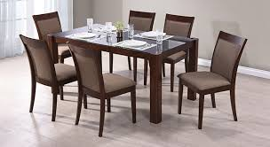 Glass Dining Table For 6 6 Seater Dining Table Delectable Decor Simple Design Seater