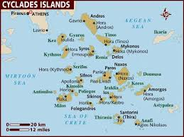 map of the islands map of cyclades islands