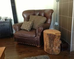 Tree Stump Side Table Reclaimed Solid Wood Tree Stump Table