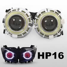 kt headlight suitable for yamaha fz1 fz1s 2006 2015 led angel eye
